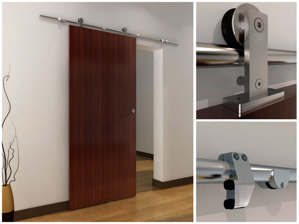 Sliding barn door hardware calusa barn door hardware for Indoor sliding doors