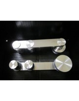 Rio Satin Stainless Steel Sliding Barn Door Hardware for glass doors