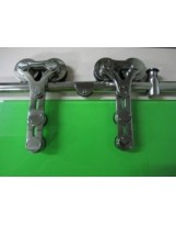 Roma Chrome Barn Door Hardware for Glass Doors