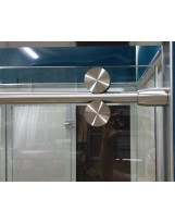 Bermuda Polished Stainless Steel Shower Enclosure Hardware