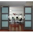 Geneva Stainless Steel Barn Door Hardware for Wood Doors