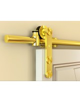 Rio Gold Finish Barn Door Hardware for Glass Doors