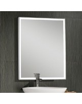 Lighted Mirror with Stainless Steel Frame