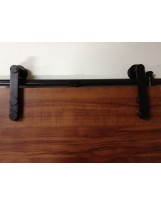 Black Geneva Hardware for Wood Barn Doors
