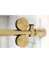 Bermuda Satin Brass Shower Enclosure Hardware