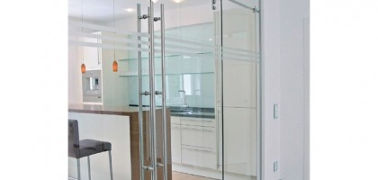Stainless Steel Barn Door Hardware for Residential Sector